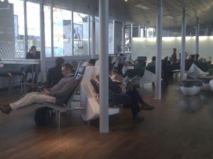 Curved furniture at Frankfurt airport
