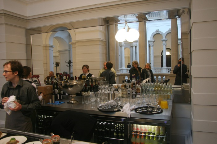 The bar in the new Members Room at Tate Britain