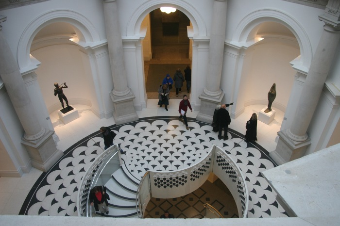 Art Meets Architecture in the space underneath the rotunda of New Tate Britain