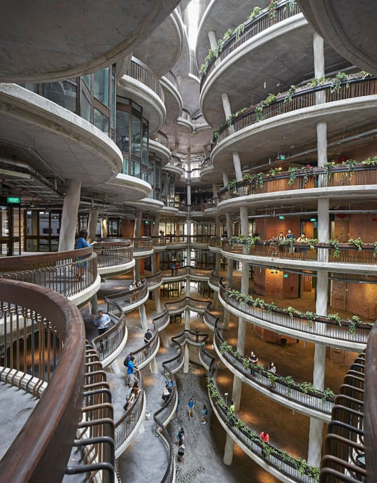 Atrium of the Learning Hub by Heatherwick (Photo credit: Hufton & Crow)