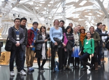 Me and my students on a visit to Westfield Shopping Mall