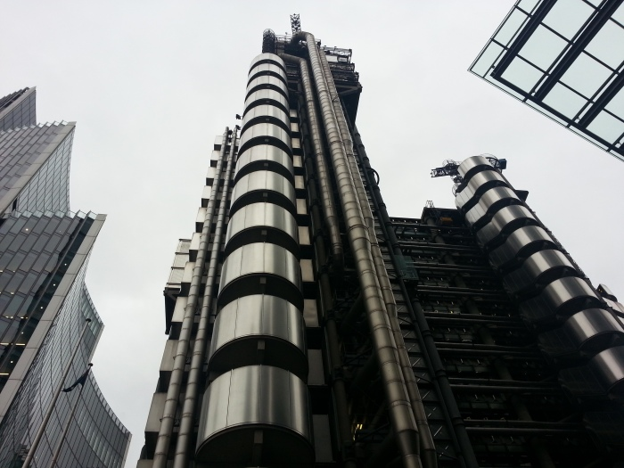 Iconic Lloyds of London building by Richard Rogers